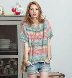 #haken, gratis patroon, Nederlands, trui, top, zomer, #haakpatroon, damestrui