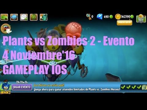 Plants vs Zombies 2 - Evento - 6 Noviembre'16 - GAMEPLAY IOS