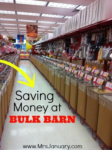 These are some great tips for saving money at Bulk Barn! Stock up on pantry staples for less!