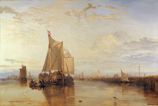 Dort, or Dordrecht: The Dort Packet-Boat from Rotterdam Becalmed (1818) by J.M.W. Turner Yale Center for British Art, New Haven