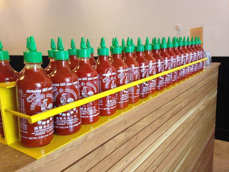 No shortage of Sriracha at ShopHouse Southeast Asian Kitchen, Asian Restaurant in Bethesda.