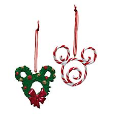 Ensemble de deux décorations Mickey Mouse Disneyland Paris                                                                                                                                                     Plus
