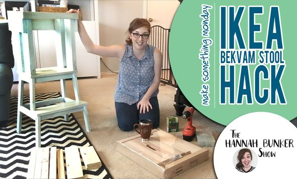 IKEA hack! Bekvam stool made into a learning tower for kids.