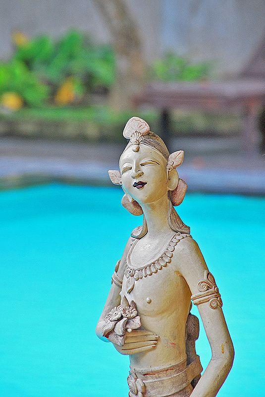 Statue at main pool