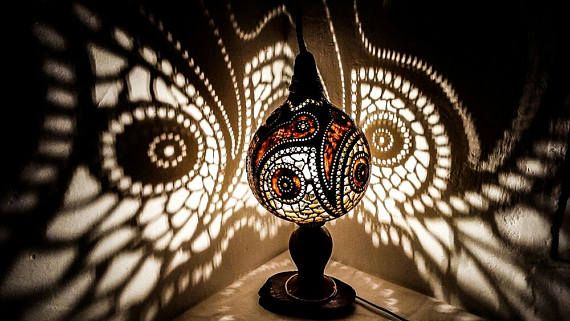 100% HANDMADE Gourd lamps handcrafted Ottoman Turkish lamps