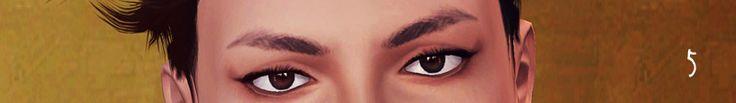 Sunny CC Finds, yumitaro: 男性シム用の 細い眉6点 と 太い眉1点 の 計7点セットです 眼窩の高さ...