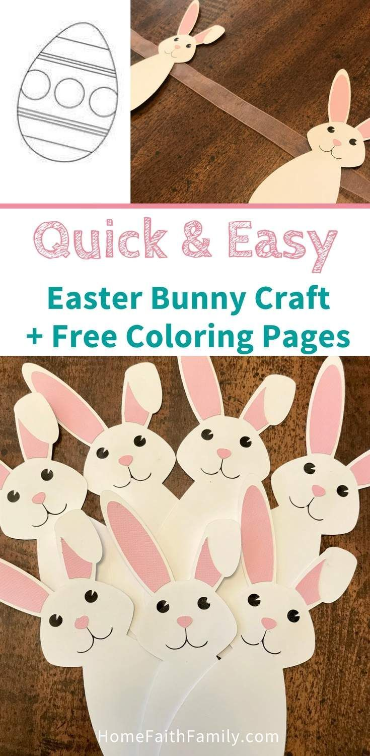 Quick Easy Easter Bunny Craft Free Coloring Pages Developing