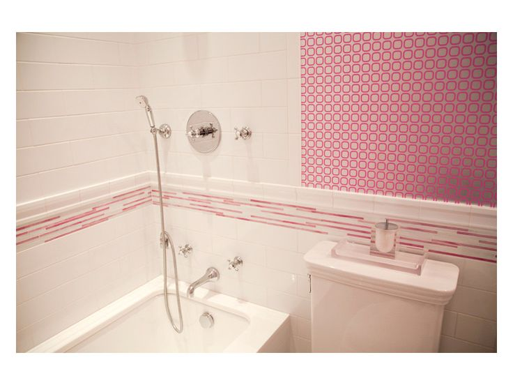 complete tile collection park avenue residence pink bathroom tub area architect amie weitzman