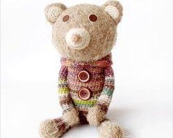 かぎ針編みのくまのアイデア♡肌触りがよさそうなくまちゃん♬