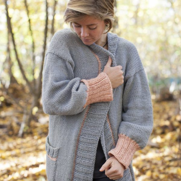Hello Sunday Cuddle Cardigan knit in Sumptuous by The Woven