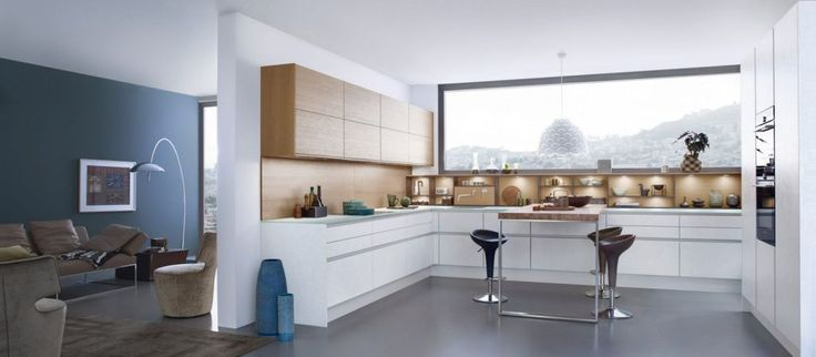 Modern style Kitchen - keep wood tops to match wainscoiting but put white cambinets below.