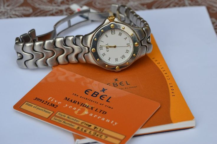 Ebel Sportwave e6187631 18K/SS White Roman numerals dial in Wristwatches | eBay