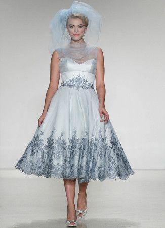 5bde3bd7c1 matthew-christopher-juniper-tiffany-blue-tea-length-a-line-natural-waist-retro- wedding-dress-rock-n-roll-bride-dimitras-bridal-couture