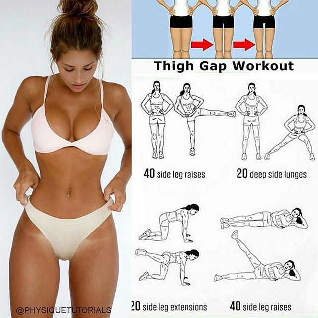 Fitness Posts The best thigh gap workout routine! Easy to do at home ✅ Like and save this so you can find it in the gym!  Follow us @thefitbodystore for amazing fitness tutorials and inspiration  all credits to respective owner(s) // DM @physiquetut