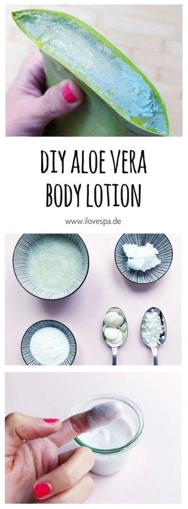 Aloe Vera Creme selber machen – DIY Aloe Vera Creme aus dem frischen Blatt