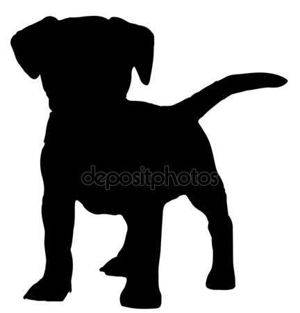 Hond silhouet vector — Stockillustratie #39864187