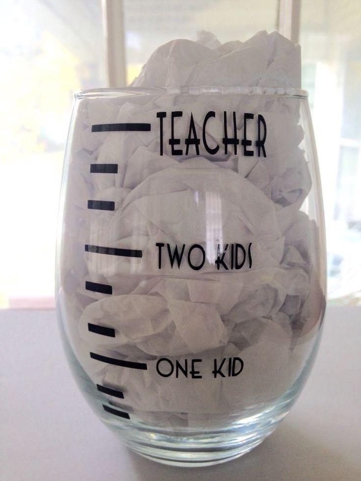 Teacher Parent Stemless Wine Glass in Glassware   eBay