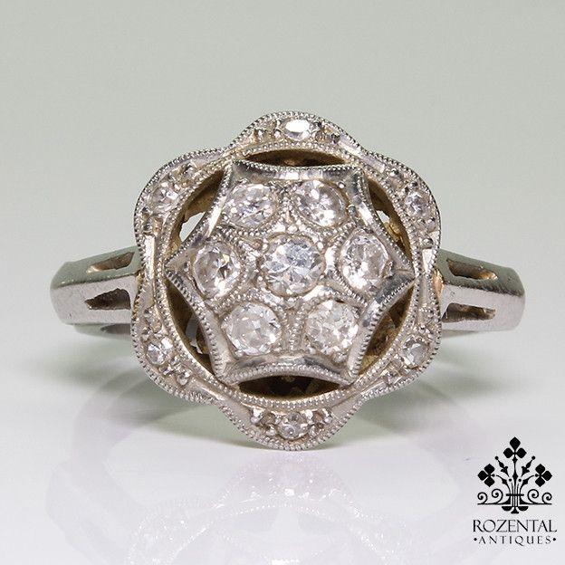 Antique Art Deco Platinum Diamond Ring