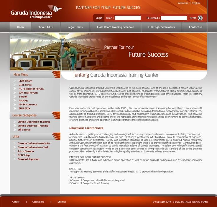 Garuda Indonesia Training Center http://www.orbitbumi.com