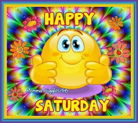 Colorful Happy Saturday Image Quote good morning saturday saturday quotes good…