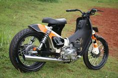 Badass Custom Honda C70 SuperCub, A.K.A. Passport, by Newspeed Garage.