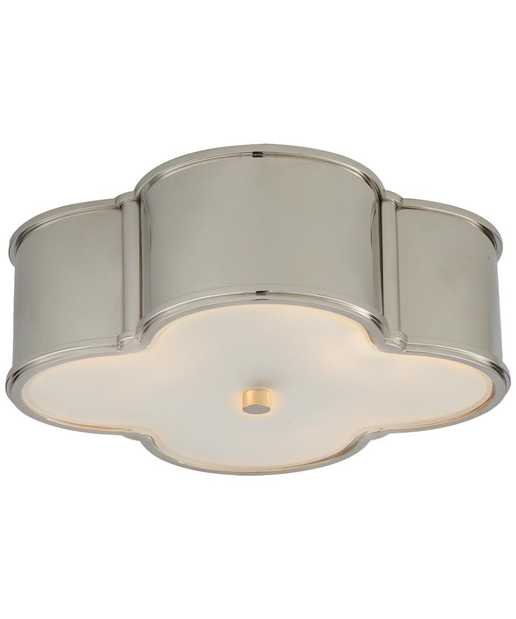 Visual comfort alexa hampton basil 17 inch wide flush mount ceiling lightingmetal