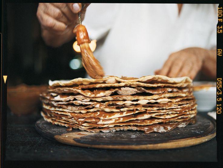 Tableton (mille-feuille argentin de crêpes croustillantes et de dulce de leche)