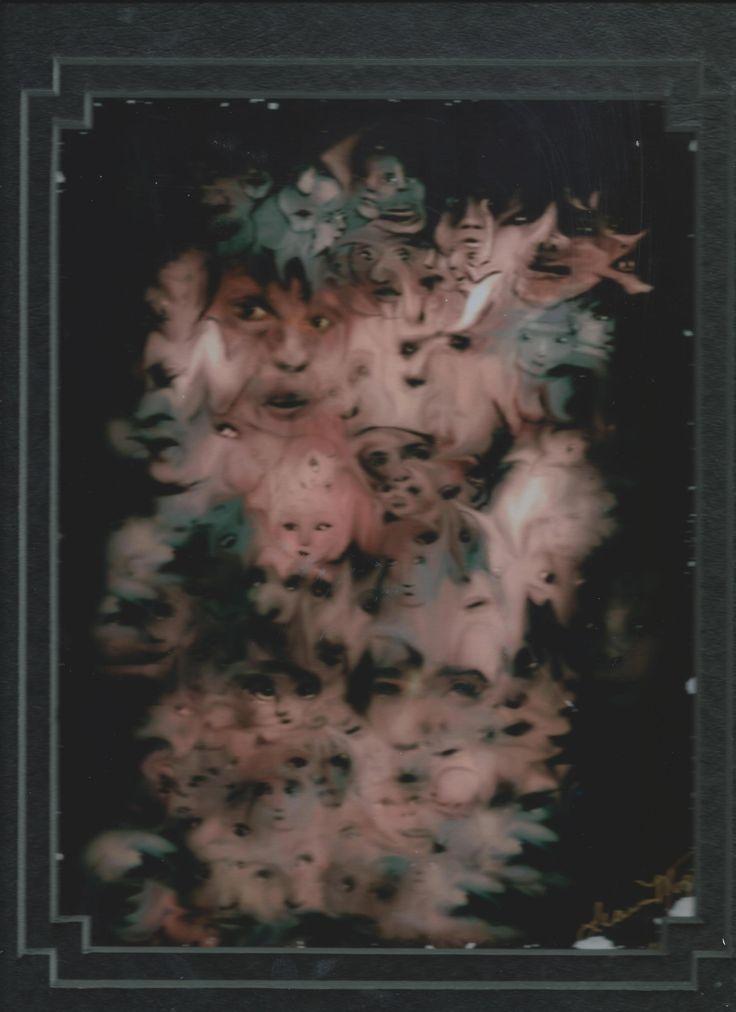 Peinture des hallucinations d'un schyzophrène