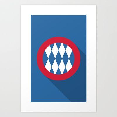 Bayern Munich Minimal Art Print by Daniel Nyari - $18.00