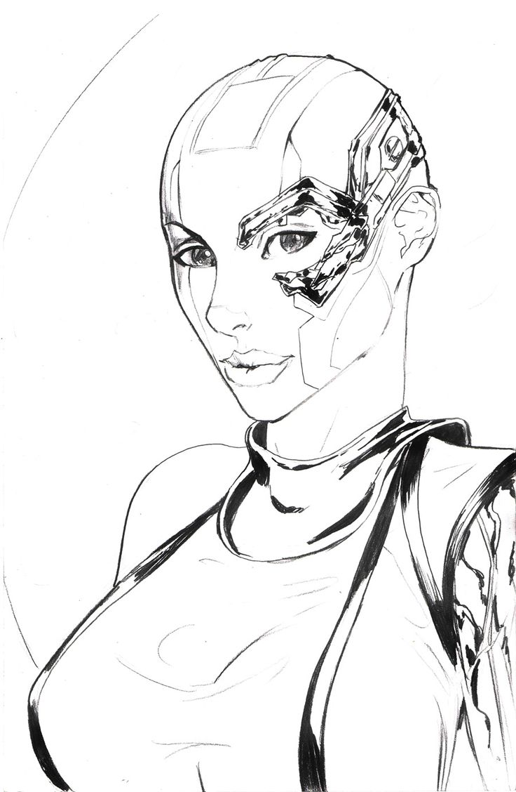 Coloring pages guardians of the galaxy - 7x10 5 Nebula Guardians Of The Galaxy Original Art By Alfred Trujillo