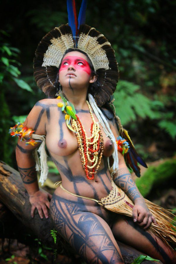 Native american naked babe