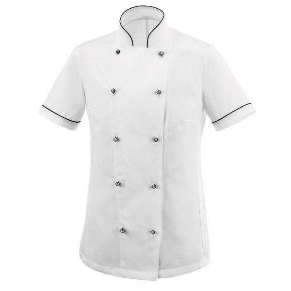 Dior Ligth Piquet Woman Chaqueta de mujer manga corta. 100% algodón. Color blanco. Slim Fit. Piqué 100%. Ligero y confortable. 10 botones. Botón especial. www.chefaporter.com