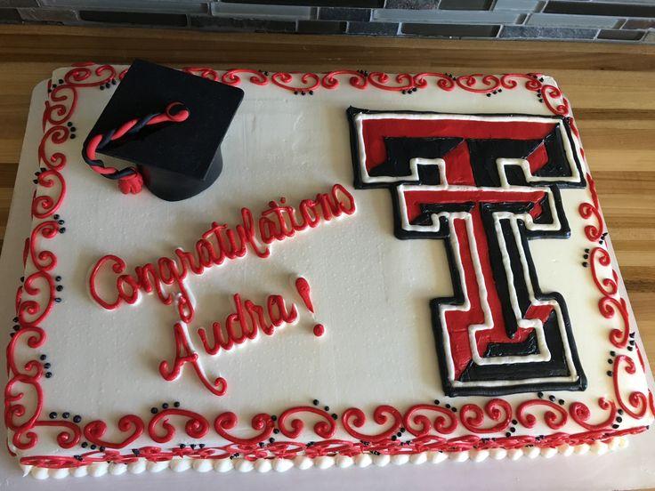graduation cake texas tech