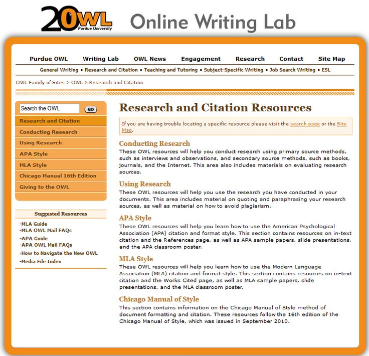 purdue online writing lab mla The purdue university online writing lab serves writers from around the world and the purdue university writing lab helps writers on purdue's campus  mla (modern language association) style is most commonly used to write papers and cite sources within the liberal arts and humanities.