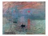 Monet...Impression Sunrise. My favorite painting and artist.