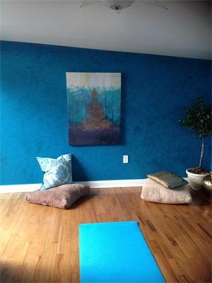 Meditation Room : A client wanted to transform an unused loft into her own private oasis
