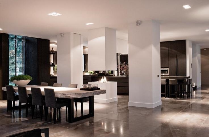 Bijzondere open haard en scheiding keuken eetkamer dream home pinterest bobs tes and doors - Eetkamer keuken ...