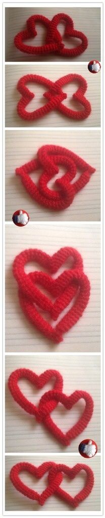 CORAZONES ENTRELAZADOS  https://www.facebook.com/amigurumiproyecto/photos/a.263582767155098.1073741833.210325415814167/389973197849387/?type=1&theater