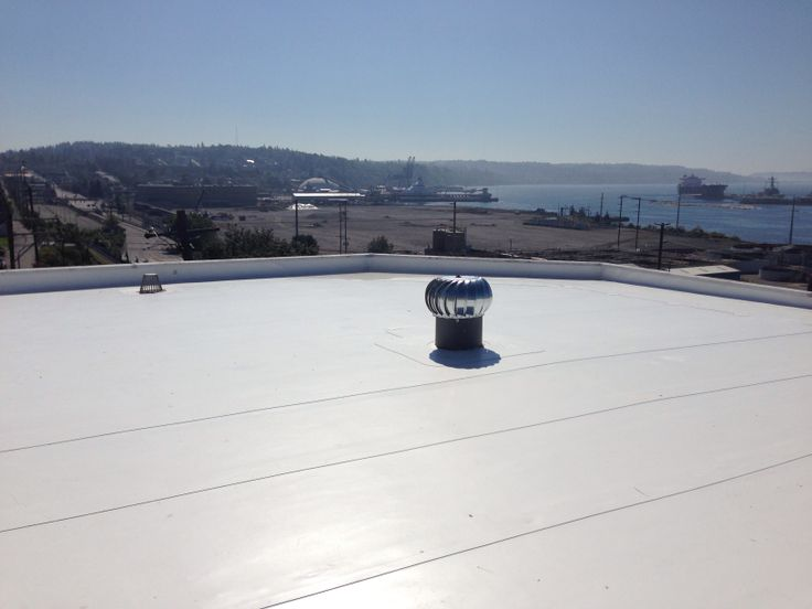 80 Mil PVC Membrane Flat Roof System By IB Roof Systems. Roofing In Everett,