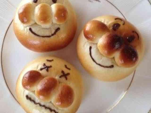 ☆スイートポテト餡でアンパンマンパン☆の画像