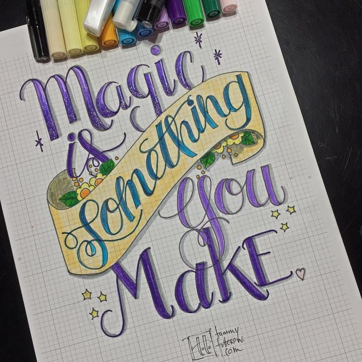 Magic is Something You Make | Hand lettering inspiration ...  Creative Lettering Styles