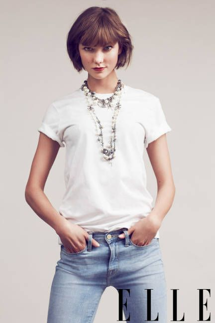 simple t-shirt, great jeans. add one fabulous necklace.  instant cool