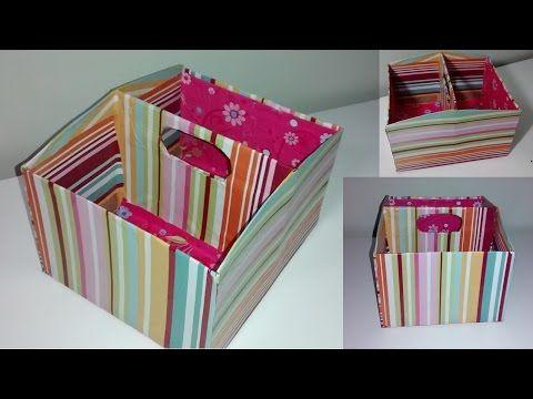 Caixa Organizadora - Feito com caixa de sapato!!! - YouTube