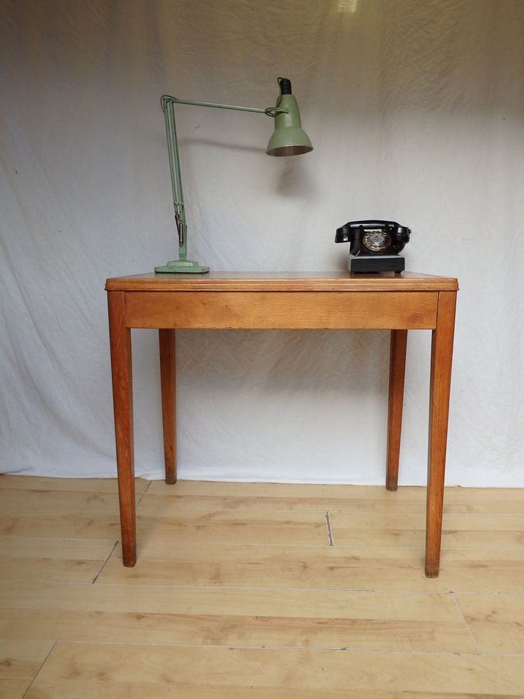 Small 1959 1950s Oak Vintage Antique Library Table Console Desk in Antiques, Antique Furniture, Desks | eBay