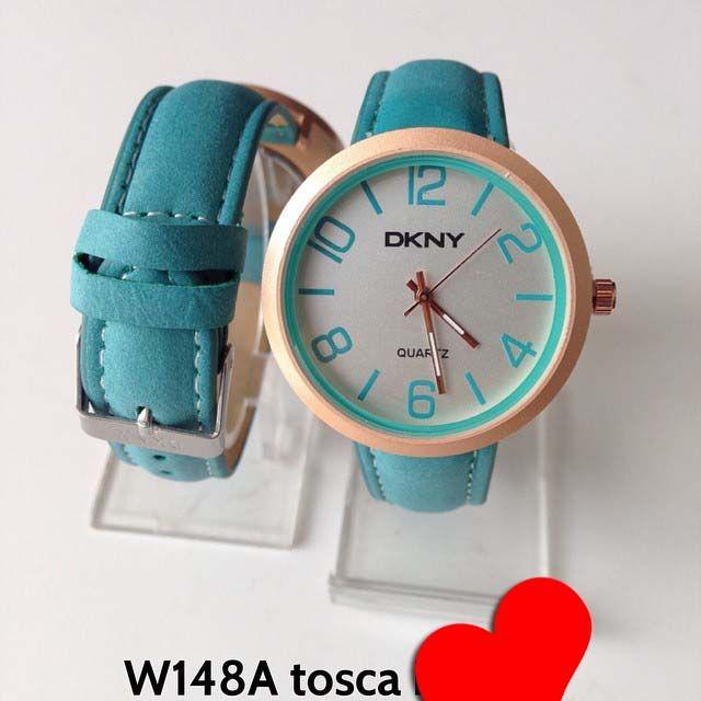 Jam tangan DKNY for ladies Kode barang : W148A tosca || Harga 85ribu || Diameter : 3.7cm || Tali : kulit lapis suede || Water resistant: tidak