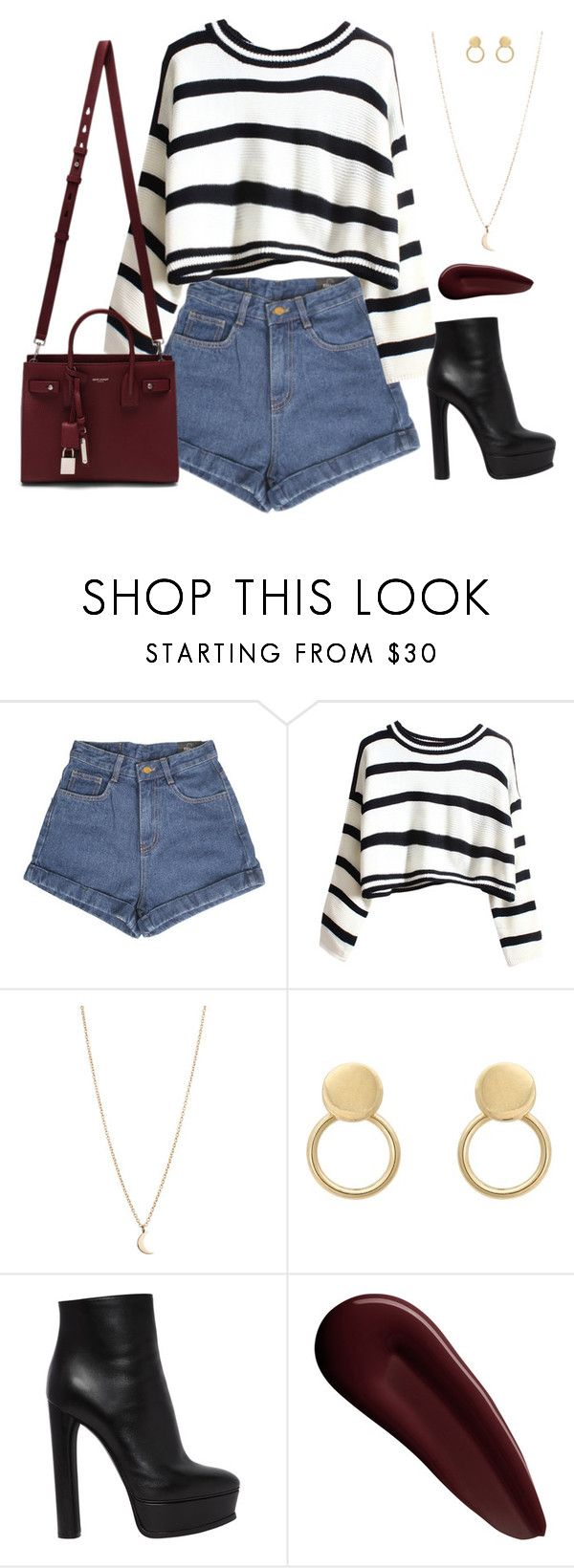 """""""Love now. Live now!"""" by eyerollingclub ❤ liked on Polyvore featuring Yves Saint Laurent, Casadei and Surratt"""