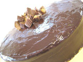 Layered Reeces Peanut Butter Cake from Picky Palate....easy to make ...