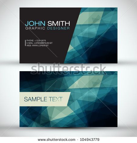 Blue Modern Business-Card Set | EPS10 Vector Design