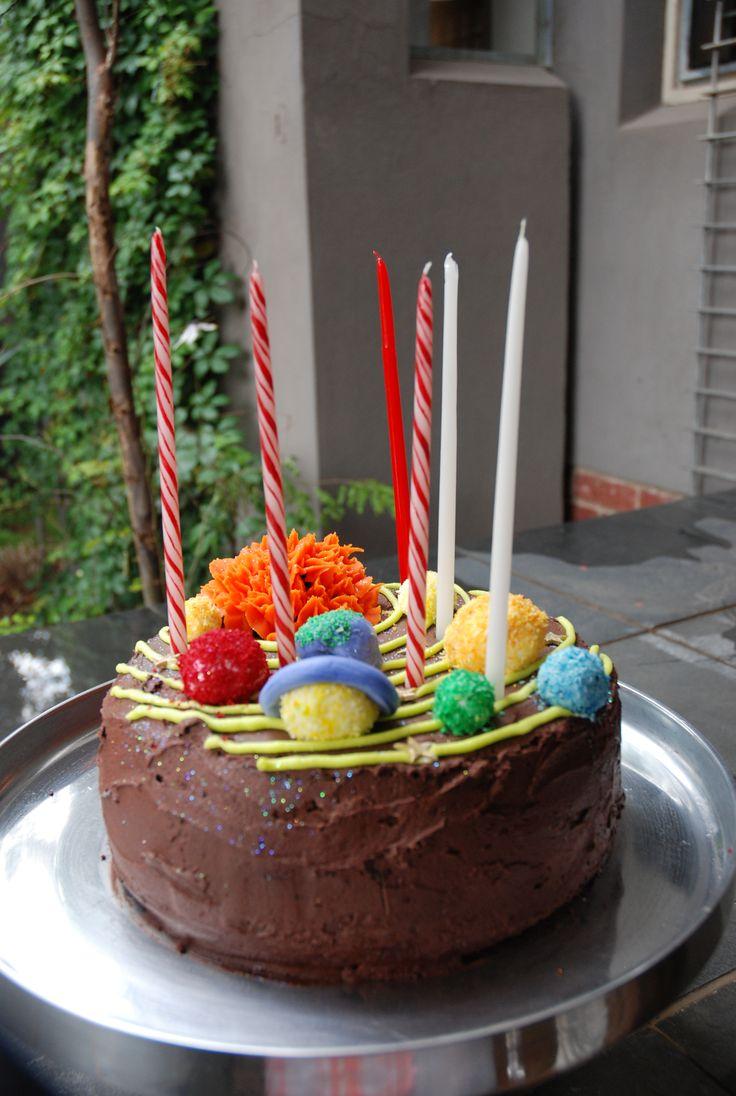 6th Birthday solar system cake