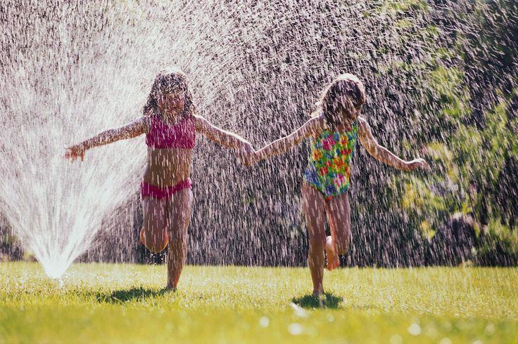 sprinklers: Sister, Favorite Things, Girl, Childhood Memories, For Kids, Summer Fun, Running, Friend
